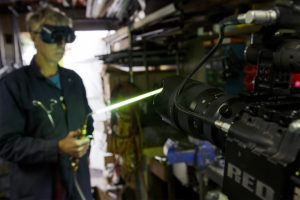 The Sigma 50-100mm f/1.8 DC HSM | Art keeps a safe distance from Mike's welding torch