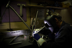 Mike Truelove Welding a Fresh Frame