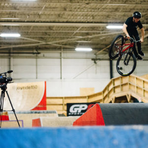 Brayden and Brad working to get clips with the Sigma CINE at Joyride 150.