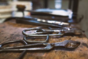 Tools of the Glass Blowing Trade at Paull's Shop