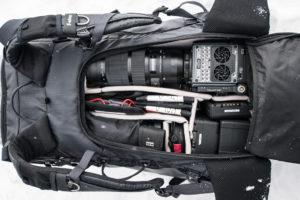 A Sigma 120-300mm f2.8 SPORT on the RED Scarlet-W in a F-Stop Backpack