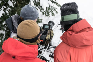 The OFFCOURSE crew with the Sigma 50-100mm T2 CINE on a slider in the backcountry.